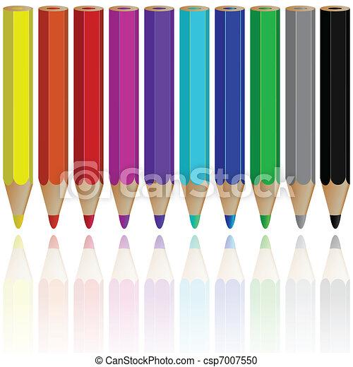 pencils reflected - csp7007550