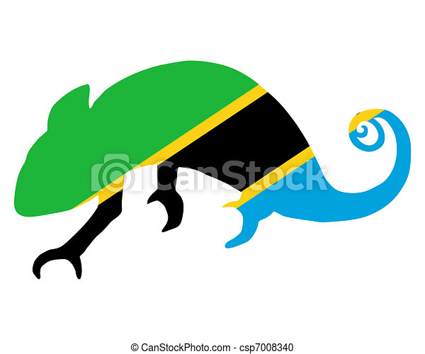 Tanzania Chameleon - csp7008340
