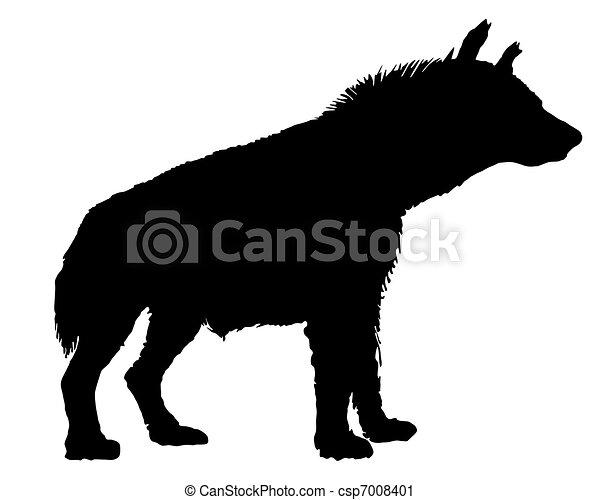 Hyena silhouette - csp7008401