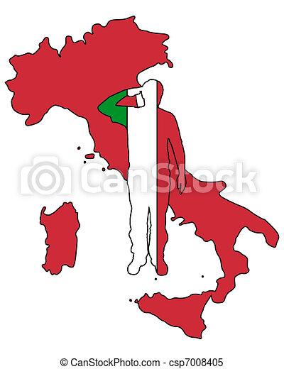 Italian Salute - csp7008405