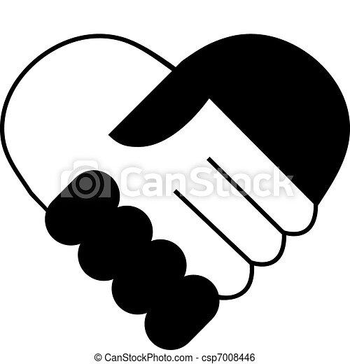 Hand shake - csp7008446