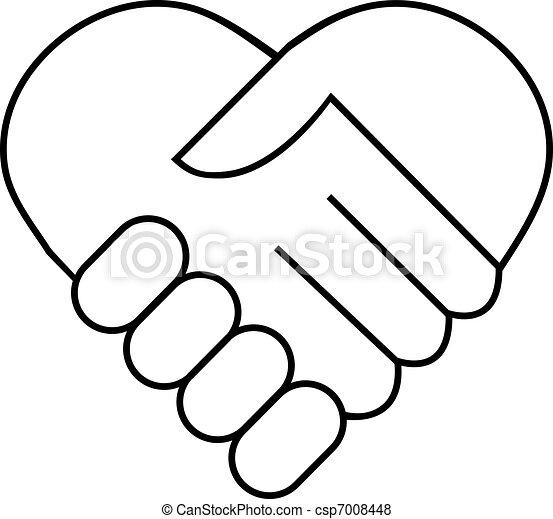 Hand shake - csp7008448