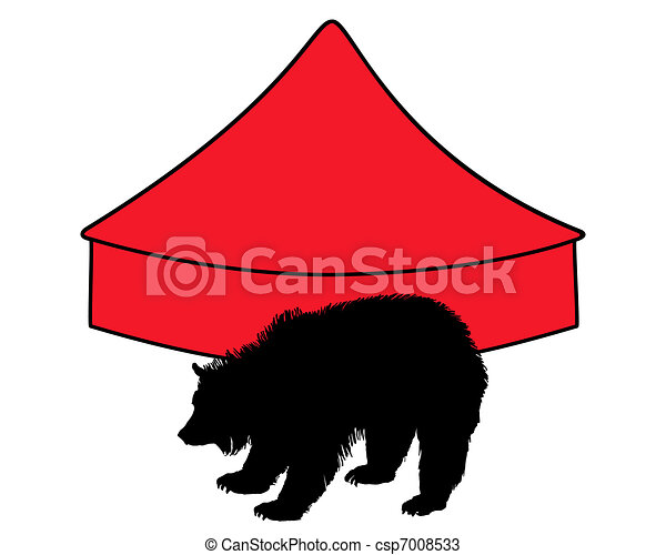 Grizzly bear in circus - csp7008533
