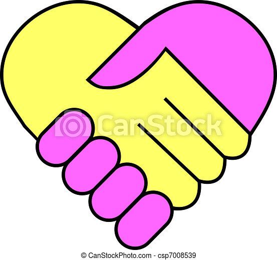 Hand shake - csp7008539