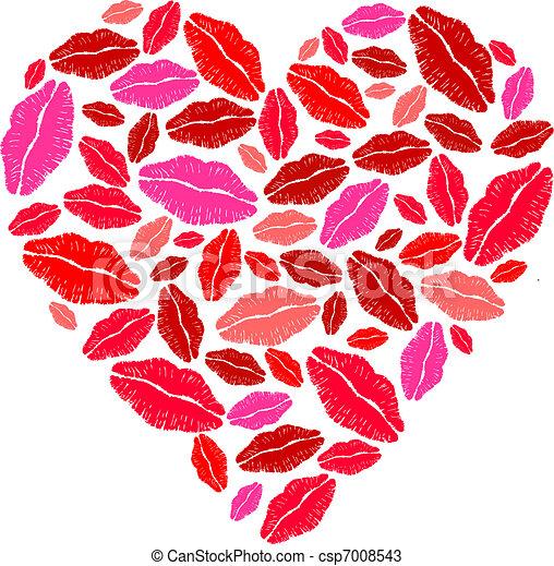 vecteurs de coeur rouge l vres rouge l vres coeur. Black Bedroom Furniture Sets. Home Design Ideas