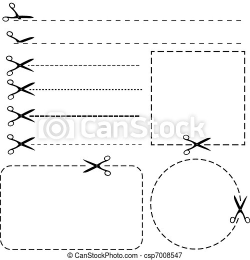 Set of coupon borders - csp7008547
