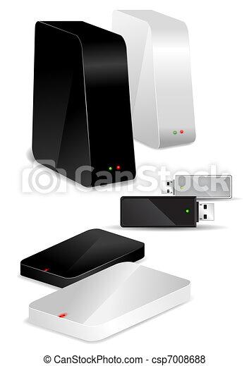Portable / Desk Hard Disks and USB drive - csp7008688
