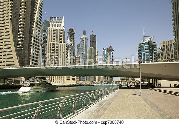 Town scape at summer. Panoramic scene, Dubai. - csp7008740