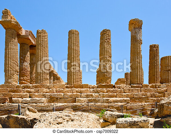Temple of Juno in Valley of the Temples - csp7009322
