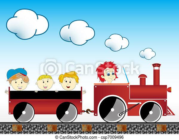 train with children - csp7009496