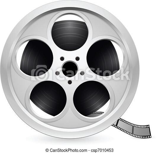 Realistic reel of film - csp7010453