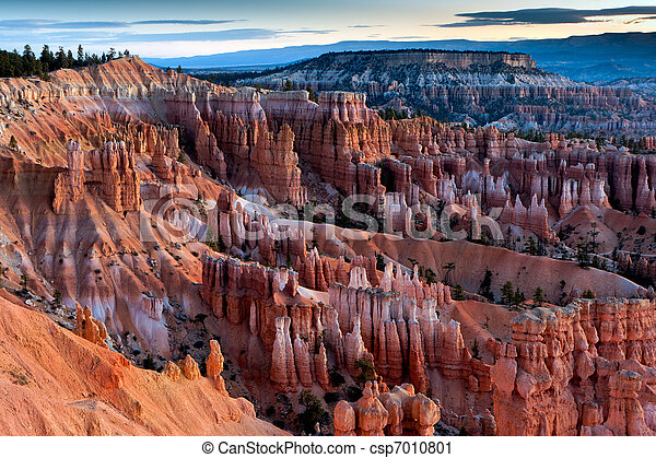 Scenic view of Bryce Canyon Southern Utah USA - csp7010801
