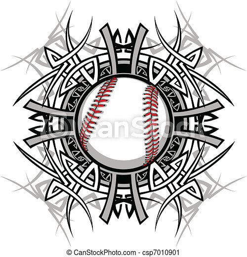 Baseball Softball Tribal Graphic Im - csp7010901