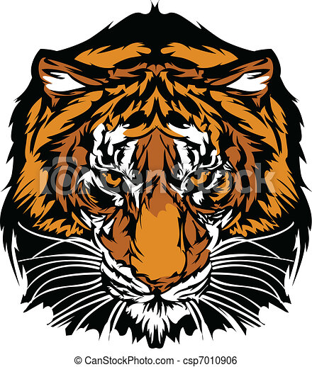 Tiger Head Graphic Mascot - csp7010906