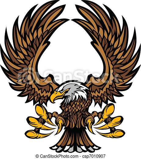 Eagle Wings and Claws Mascot  - csp7010907