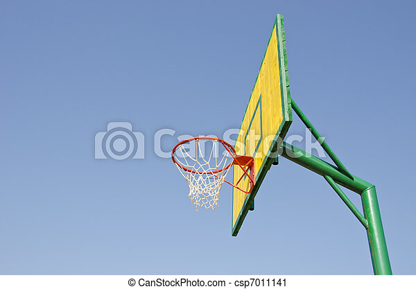 backboard on sky background - csp7011141