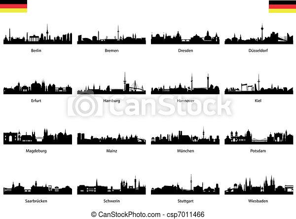 16 Germany provincial capital - csp7011466