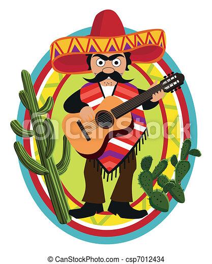 Mexican Musician  - csp7012434