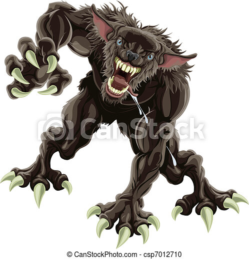 Werewolf illustration - csp7012710