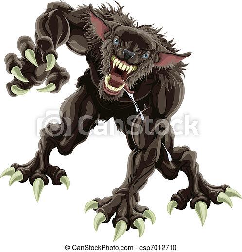 Werewolf illustration - csp7012710