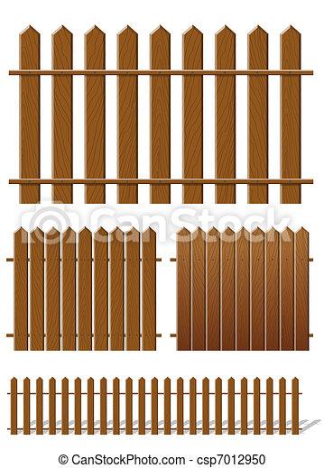 Brown fence with wooden texture - csp7012950