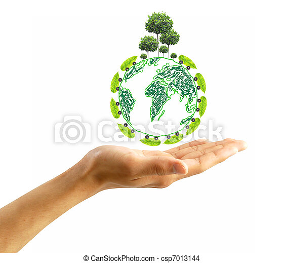 ambiente, proteggere, concetto - csp7013144