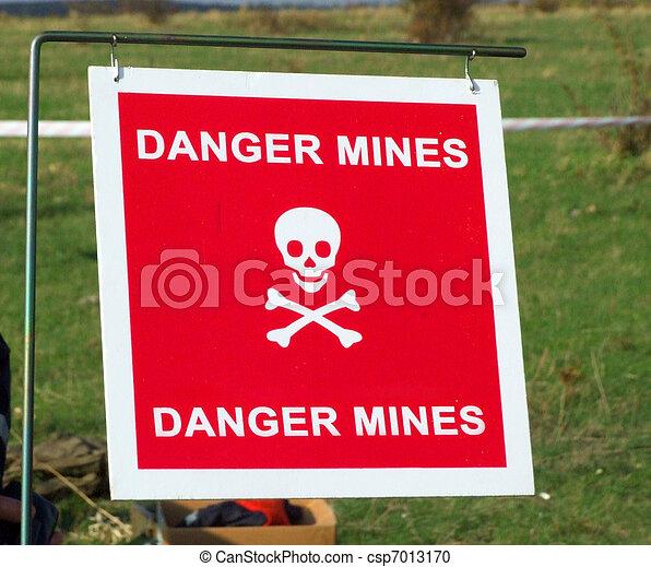Danger mines - csp7013170