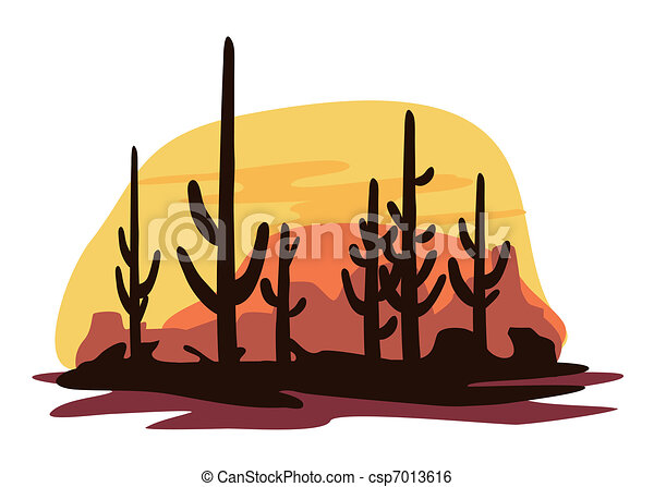 Cactus and Desert - csp7013616