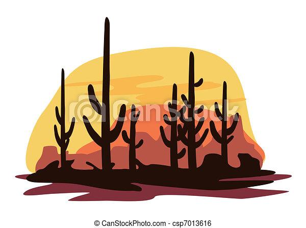 Cactus and Desert - csp7013616