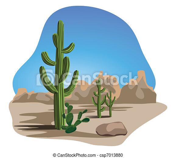 Cactus and Desert  - csp7013880