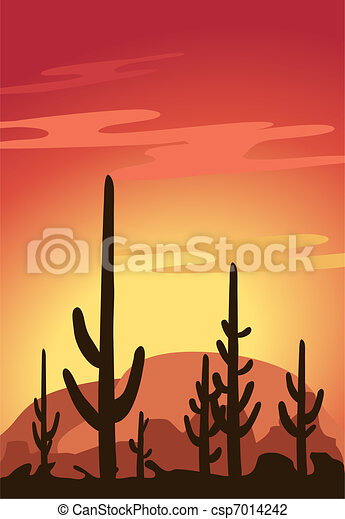 Cactus and Desert  - csp7014242