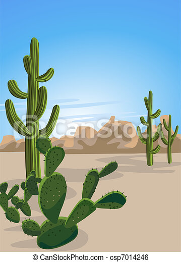 Cactus and Desert - csp7014246
