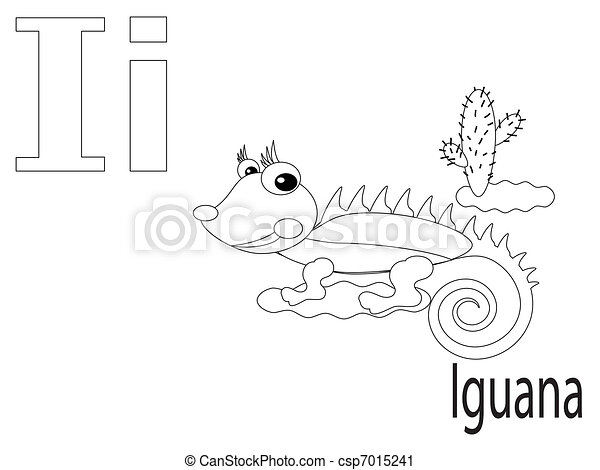Coloring Alphabet for Kids, I - csp7015241