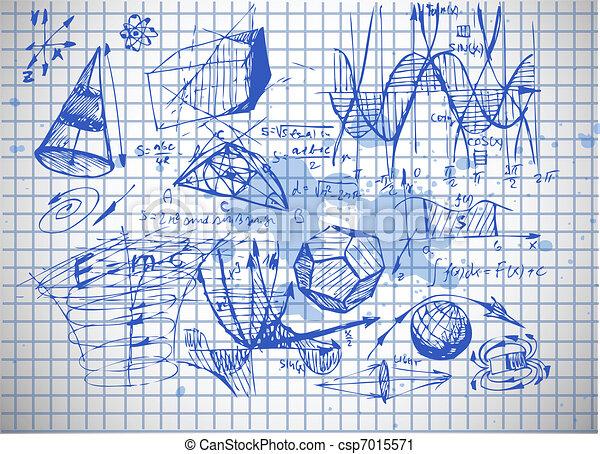 math and physics symbols - csp7015571