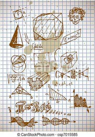 math symbols from high school - csp7015585