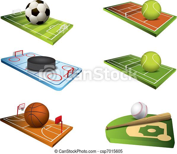 Vector sport fields icons - csp7015605