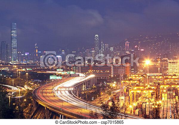 Hong Kong Bridge of transportation  - csp7015865