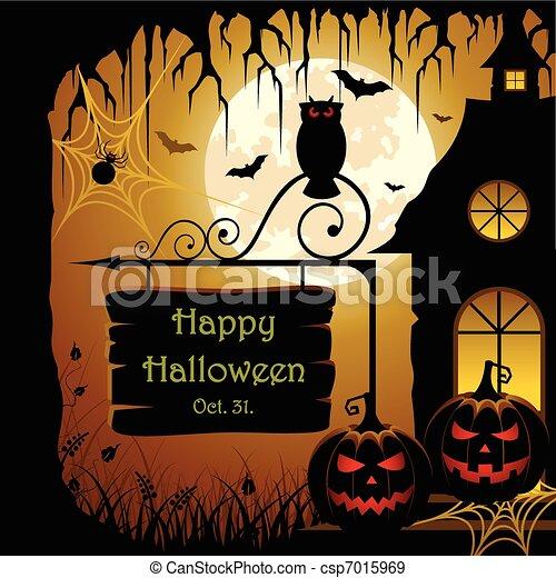 Halloween Design - csp7015969