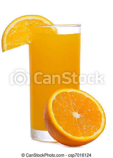 orange juice with slice of orange - csp7016124