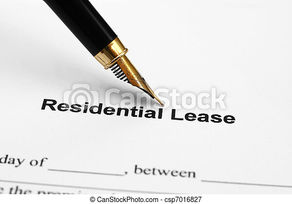Residential lease - csp7016827