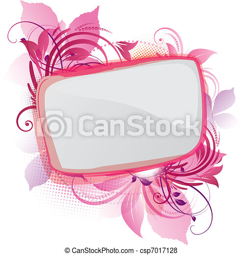 Pink Floral Background - csp7017128