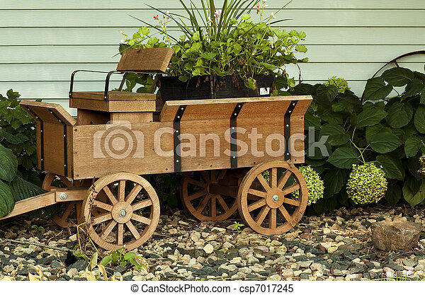 Stock Images Of Wooden Wagon Small Wood Wagon In A Rock