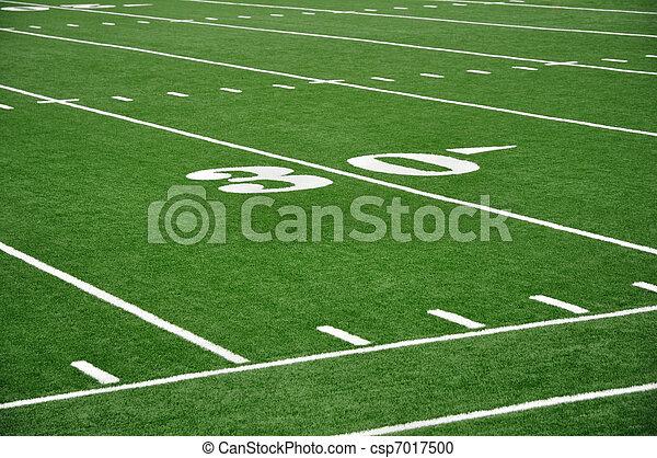 Thirty Yard Line on American Football Field - csp7017500