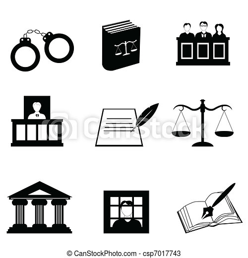 Justice and legal icons - csp7017743
