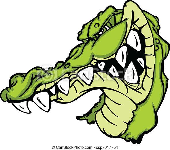 Vecteur eps de alligator gator mascotte ou dessin - Image crocodile dessin ...
