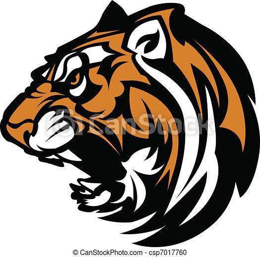 Tiger Mascot Graphic - csp7017760
