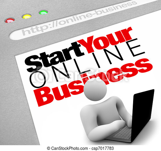 Website - Start Your Online Business Instructions to Lauch Site - csp7017783