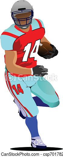 American football player s silhoue - csp7017827