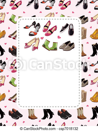fashion shoe sale card  - csp7018132