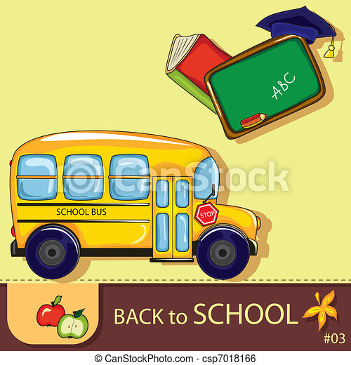 Colorful school background - csp7018166